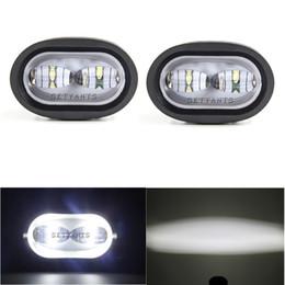 luci spot per motociclette Sconti Lampada da lavoro a LED da 20W 6D Lampada da moto ausiliaria universale per moto fuoristrada, bianca / gialla, per auto