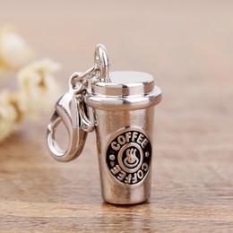 kupferfeder charme großhandel Rabatt Zinklegierung Charms für Schmuckherstellung 3D Kaffeetasse Charme