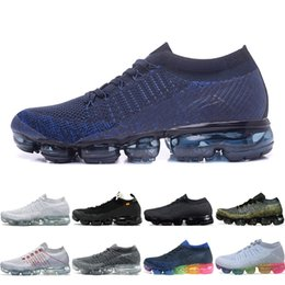 Wholesale canvas belt blue - Vapormax Mens Running Shoes 2018 moc black belt New style For Men Sneakers Women Fashion Athletic Sports Walking Outdoor trainers designer