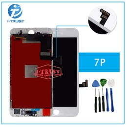 Wholesale Test Digitizer - 100% Tested Good Quality LCD Display For iPhone 7 Plus Touch Digitizer and free Excellent Replacement with Free Shipping