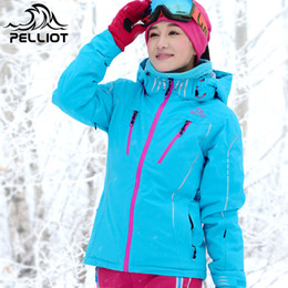 женские зимние велосипедные куртки Скидка Female Ski Jacket Outdoor Snowboard Jacket for Women Winter Thick Breathable Hiking or Cycling Clothing On Hot Sales