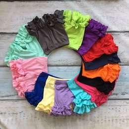 Wholesale lolita girls - Girls Colored Lace Shorts Candy Shorts for Girls Multi-color Elastic Band 100% Cotton Short Pants Summer