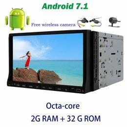 "Sistema operativo chino online-7 ""Android OS GPS Estéreo Octa-core Doble din Coche Reproductor de DVD en la computadora OBD2, DAB +, TV digital, DVR + Cámara de respaldo inalámbrica"
