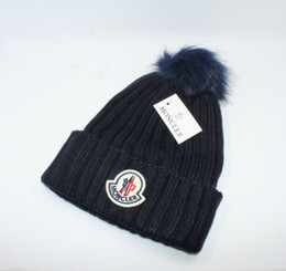 0eb5a96616436 Hot sale Fashion Unisex Winter brand CANADA men beanie Bonnet women Casual  knitting hip hop Gorros pom-pom skull caps hair ball outdoor hats