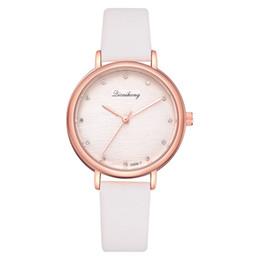Canada Mode Paris Femmes Montre À Quartz Rose Or Montre Bracelet En Cuir Cadeau De Luxe Dames Vintage INS Style Montre-Bracelet Horloge LS1083 supplier watch paris Offre
