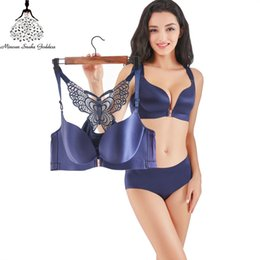 08f51f2b11ade Push Up Lingerie Bra Set Underwear Bra Set Seamless And Panties Front  Closure Female Intimates Plus Size BCDE Brassiere