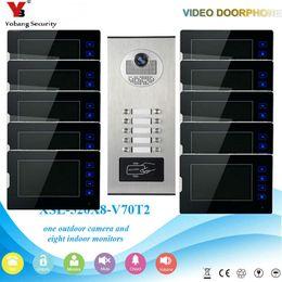 video portero Rebajas Yobang Security Wired Home Video Door Phone Intercom Timbre de la puerta Pantalla de monitor de 7 pulgadas Cámara infrarroja de visión nocturna a prueba de agua