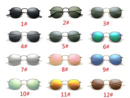 Wholesale Cheap Glass Tops - 2018 Hot Fashion Luxury Round Metal Frame Top Quality Cheap Lightweight Women's And Men's Sun Glasses