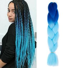 Hellbraunes flechthaar online-zweifarbiges Ombre Jumbo Braiding Hair bündelt Verlängerung Synthetische Kanekalon-Faser für Twist Braiding Hair Schwarz / Dunkelbraun / Hellbraun