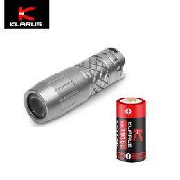 Fackel schlüsselanhänger online-Klarus Mini One Ti 130LM Schlüsselanhänger Taschenlampe Titanium Torch Akku