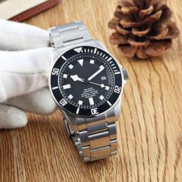 Reloj deportivo cuero azul online-Venta caliente Pelagos Reloj 25600TB Automático Acero inoxidable Aceros / Banda de cuero Negro / AZUL Dial Deporte Hombres Hombres Relojes Relojes