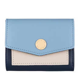 Wholesale Mini Coin Envelopes - Casual Ladies Hasp Mini Wallets Zero Purses High Quality PU Leather Credit Card Holders Clutch Bags Contrast Color Patchwork Envelope Bag