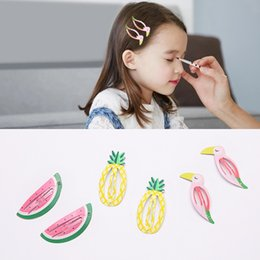Wholesale Bird Pair - 6 Pcs (3 Pairs) Cartoon Bird Shape Metal Snap Hair Clips Girls' Hair Grips Side Hairpin Kids Accessories