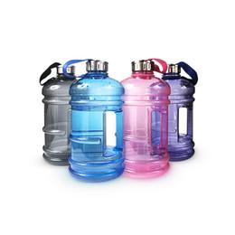 Обучение водным бутылкам онлайн-2.2 L Большая Емкость Бутылки Воды Открытый Спорт Тренажерный Зал Половина Галлон Фитнес-Тренировки Кемпинг Работает Тренировки