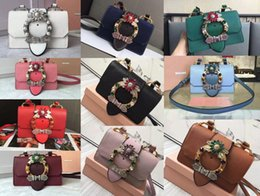 Wholesale Lady Goats - AAAAA Women 5BH609 Lady Bag Madras Goat Leather Flap Closure Jeweled Buckle Suede Lining With Box Dust Bag Free Shipping