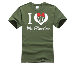 a45835426 I Love My Boyfriend Girlfriend Kissing Cartoons V-day Couple Matching  Summer Cotton Men Women T Shirt Print