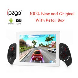 Wholesale Ipega Bluetooth Controller Ios - iPega PG-9023 PG 9023 Wireless Gamepad Bluetooth Game Controller Gamepad Adjustable Brackets for Android  iOS Tablet PC Phone