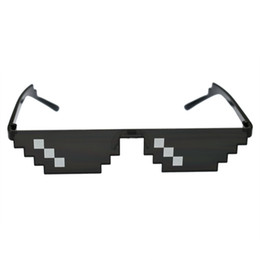 Deal With It Glasses 8 bits Thug Life Sunglasses Women Men Dealwithit Popular Around the World Party Funny Eyewear Coupons