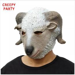 LATTICE capo completo animali capra popolari Fattoria Fancy Dress Up Carnevale Party Maschera