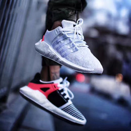 Wholesale genuine leather coats women - 2018 EQT Support 93 17 Ultra Running Shoe Support Future Black White Pink Coat Of Arms Pack Men Women Trainers Turbo Sports Sneakers Zapatos