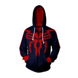 2019 casacos de inverno Jaqueta com capuz homens spiderman / mulheres outono Outono inverno pullover hoodies camisola Hoodies Manga Longa 3D impressão Com Chapéu Plus Size casacos de inverno barato