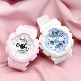 Wholesale ladies red led watch - Baby-new digital LED ladies quartz sports watch rubber strap, military quartz watch waterproof wrist accessories and full-featured box