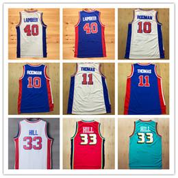 Wholesale purple joe - NCAA Wholesale Men's Retro Shirt 4 Joe Dumars 10 Dennis Rodman Jersey 11 Isiah Thomas 33 Grant Hill Retro Stitched Basketball Jerseys