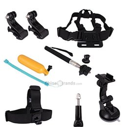 Wholesale gopro hero head - 7 In 1 Chest Head Strap Floating Hand Grip Monopod Mount Accessories Kit for Gopro Hero 1 2 3 3+ 4 Camera