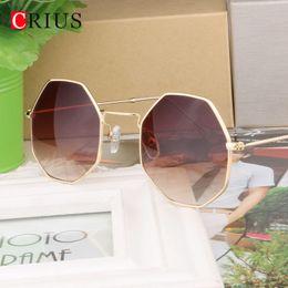 H CRIUS personalidad gafas de sol redondas de las mujeres de moda coloridas  mujeres gafas de sol Gafas de diseño original clásico Vintage Anti-UV 9ed800bee74e