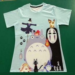 maschere di spirito Sconti Studio Ghibli Miyazaki Hayao Anime Spirit Away Maschera No Face Bank Totoro Cartoon Uomo Donna 3D Vestiti Estate T-Shirt Maglietta Geek