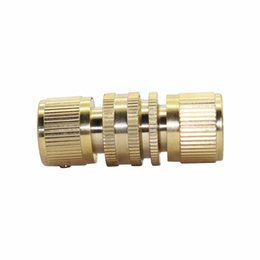 "быстрая труба  Скидка 10Set 3/4"" Internal thread and 3/4"" External thread copper Quick Connectors garden irrigation Accessories Car Wash Pipe Fittings"