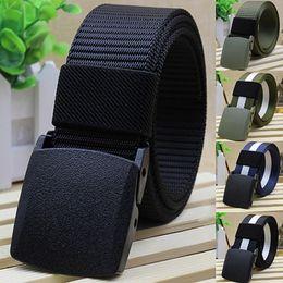Cinturón de hebilla automática de los hombres práctica táctica militar de  nylon cinturón de lona Cinturón Cinturón cinturón táctico c86402c49818