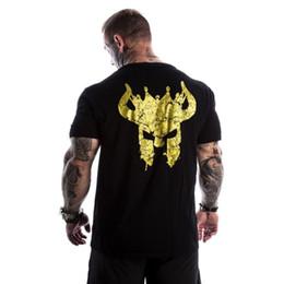 Мужчины повседневная мода творчество печатных футболки человек тренажерный зал фитнес дышащий хлопок футболка 2018 Лето новый мужской Tee топы одежда от
