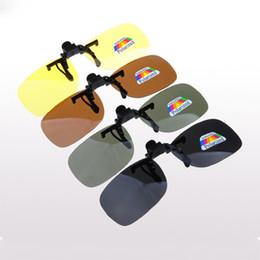 Clip polarizado de los vidrios de conducción online-2018 nueva moda polarizada UV400 gafas de sol Clip, hombres mujeres gafas de miopía Marcos dedicados gafas de sol clip, unidad exterior protección ocular D