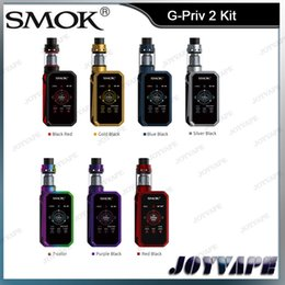 Wholesale Metal G - Authentic SMOK G-Priv 2 Kit 230W G-Priv II Mod With 4ml TFV8 X-Baby Tank 2.0Inch Touch Screen Kit 100% Original From Smoktech
