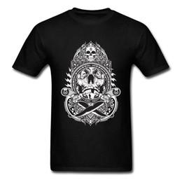 Meninos botão top on-line-Faca Lutador Tshirt Personalizado Pessoal 3D Crânio Meninos T Camisa Puro Algodão Nenhum Botão Impressão Topos Causal Atravessar A Faca Camisetas