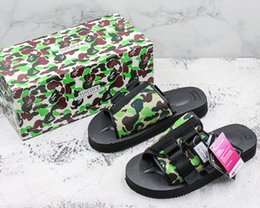 Wholesale moto shoes - With Box 2018 Summer New Arrival Suicoke Sandals Fashion Men Women Lovers Visvim Camo Green MOTO-VS Slippers Beach Outdoor Shoes