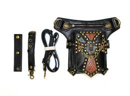 Bolsa pierna hombres online-Nueva bolsa de cintura de calavera Mujeres Steam Punk Funda protectora Bolsa de pierna Bolsa de teléfono Hombres Paquete Monedero sin hombros DHL G224S