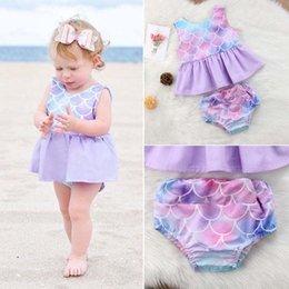 22d6a580e 2019 trajes de sirena para bebés infantiles Ins venta caliente El Mermaid  Girls Outfits bebé ropa