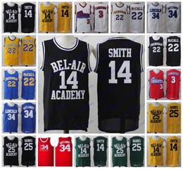Wholesale L Bel - 3 Cambridges LA Knights BEL AIR WILL SMITH 25 BANKS 34 Jesus Shuttlesworth QUINCY McCALL CRENSHAW Basketball Jerseys Stitched