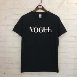 Wholesale black men street clothes - Brand Design Vogue Printed Women Men Short Sleeve T shirts tee High Street Clothing Men Women Cotton T shirt Summer 2018