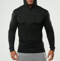 Wholesale M Live - Fashion LIVE letter print Active sport long-sleeved T-shirt casual hoodies T-shirt Men's cotton Long sleeve hooded fleece Leisure blouse
