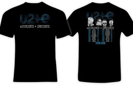 Deutschland U2 Erfahrung und Unschuld 2018 Konzert Welt Tour Schwarz T-Shirt T-Shirts Kleidung cheap u2 shirt Versorgung