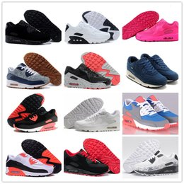 Wholesale navy surface - Men Sneakers Shoes Classic 90 Men and women Walking Shoes Sports Trainer Air Cushion 90 Surface Breathable Sports Shoes 36-45