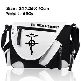 4001eab2227c book bags plain NZ - New Fashion Fullmetal Alchemists Shoulder Bag Cross  body Messenger Bag Unisex