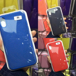 Canada pour iphone X 6/7/8 5s plus étui de téléphone en silicone liquide TPU souple évider Peinture à l'huile de fibre de carbone Offre