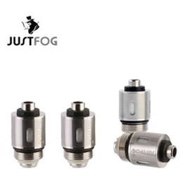 2019 bobina s14 Auténtico Justfog C14 G14 S14 Q14 Q16 Kit de atomizador Cabeza de bobina 1.2 / 1.6ohm 100% Bobinas de reemplazo de algodón japonés orgánico FJ733 bobina s14 baratos
