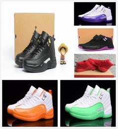 Wholesale Hot News Women - High quality hot news 12 12s Womens Basketball Shoes ovo white TAXI Flu Game GS Barons Playoffs gym red French blue shoes