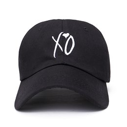 2019 xo weeknd Moda ajustável chapéu XO a Weeknd Snapback chapéus para homens mulheres marca hip hop dad caps sol rua skate casquette cap xo weeknd barato