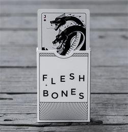 Wholesale Bicycle Deck Cards - 1 Deck Flesh & Bones Playing Cards Bicycle Poker Magic Deck Magic Tricks Children Adult Games